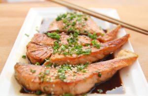 salmone ai semi di lino