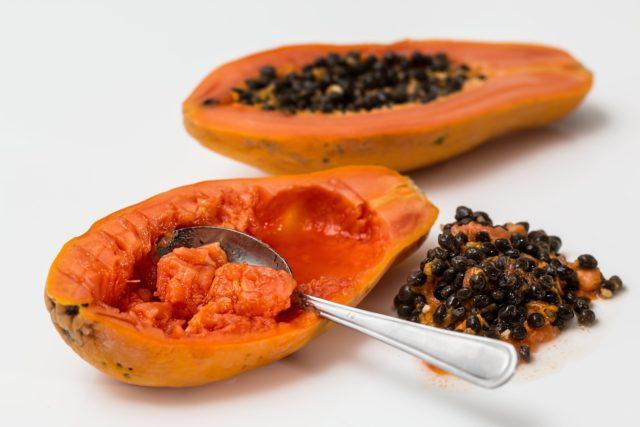 farina d'avena e papaya