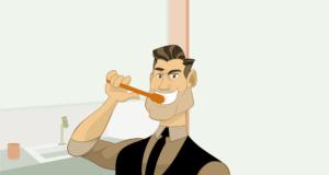 rimuovere la placca dai denti