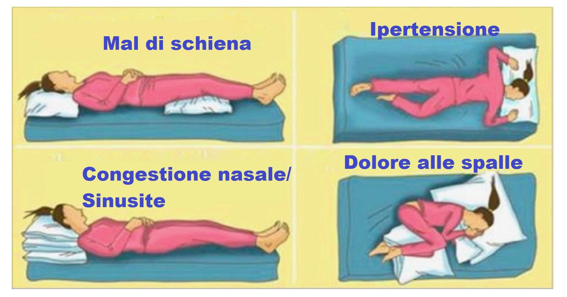 la posizione corretta per dormire in base ai nostri