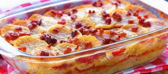 patate e peperoni gratinati