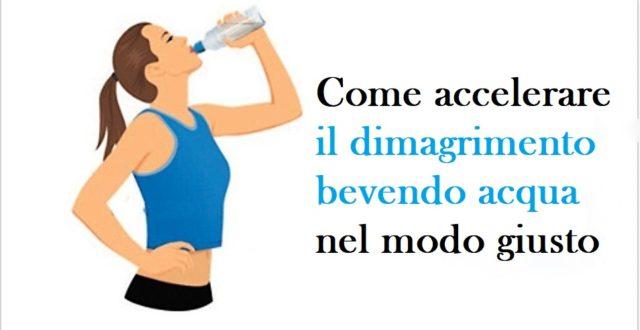 accelerare il dimagrimento bevendo acqua