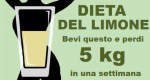 dieta dei limoni