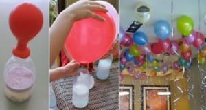 gonfiare i palloncini senza usare l'elio