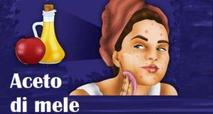 detergere la pelle con l'aceto di mele