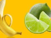 bevanda con limone e banana