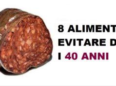 alimenti da evitare dopo i 40 anni